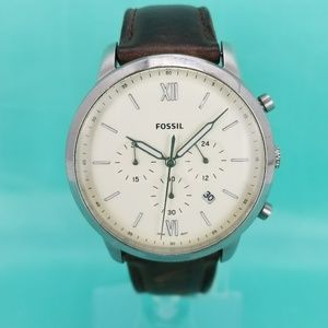 Fossil Men's Neutra Chronograph Brown Leather Larg